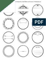 contoh badge button DIY