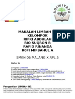 MAKALAH LIMBAH B3 KELOMPOK RIFKI ABDULAH RIO SUQRON R RAFID RINANDA R0FI MIFBAHUL A  SMKN 06 MALANG X.RPL.5