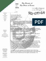 Sen. Patrick Request of TX Attorney General Greg Abbott re
