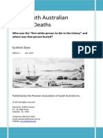Early South Australian Settler Deaths by Brian Stace