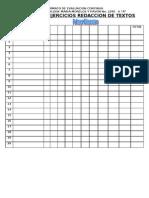 registro de ejercicios de redaccion