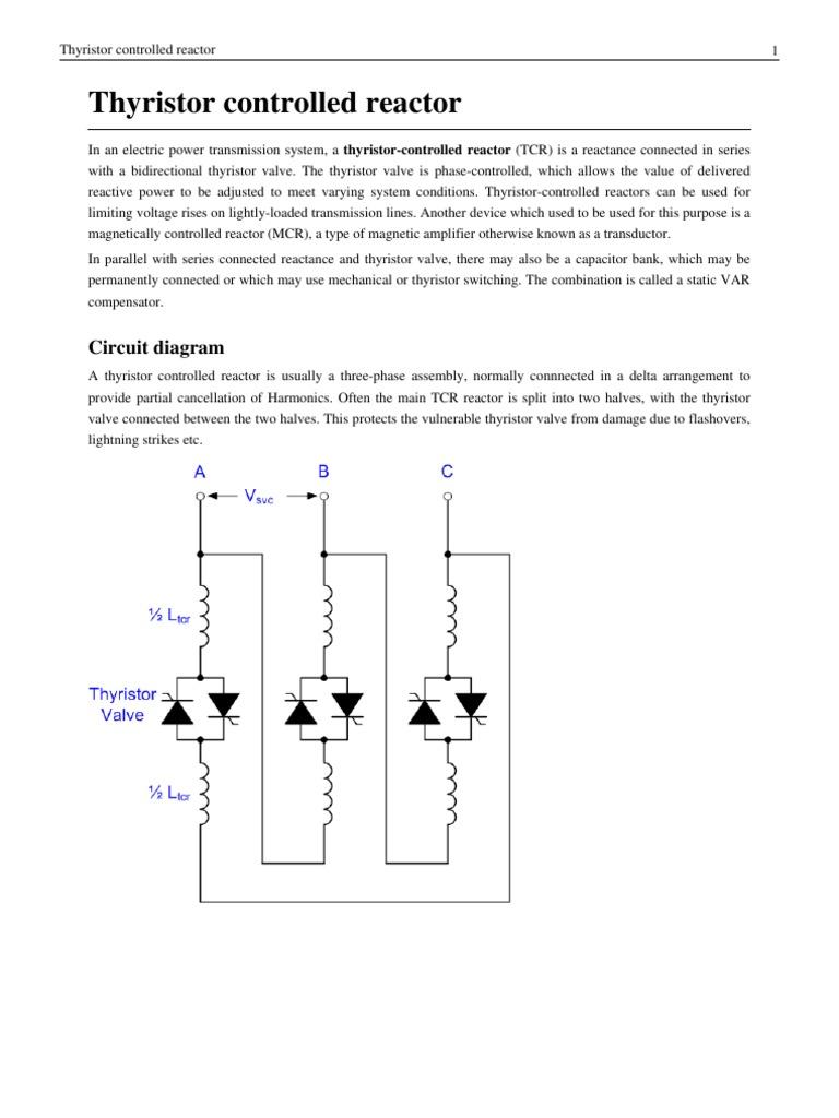 Thr Thyristor Circuit Diagram Switch