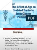 The Effect of Age on Isolated Bacteria from Cancer Patients