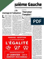Cinquième Gauche n°28 - janvier 2013