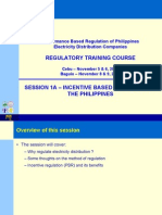 Incentive Based Regulation in the Philippines