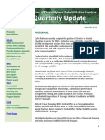 Quarterly Update January 2013 from the Division of Disability Rehabilitation Services