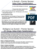 iSixSigma Live Summit Value Chain Transformation