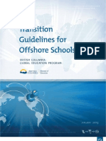 Transition Guidelines for Offshore Schools