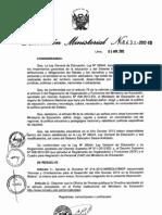 R.M. Nº 431-2012-ED
