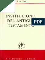 Instituciones del Antiguo Testamento, Vaux, R.