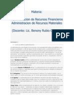 ADMINISTRACION DE RECURSOS MATERIALES
