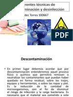 Tecnicas de Descontaminacion y Desinfeccion