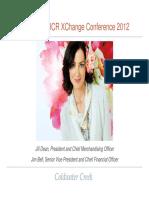 $CWTR Coldwater Creek Jan 2012 Corporate Investor ICR Presentation Slides Deck PPT PDF