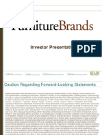 $FBN FBN Furniture Brands Jan 2013 Corporate Investor ICR Presentation Slides Deck PPT PDF