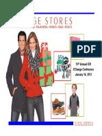 $SSI Stage Stores Jan 2013 Corporate Investor ICR Presentation Slides Deck PPT PDF