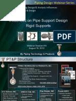 influences on pipe support design rigid supportsinfluences on pipe support design rigid supports