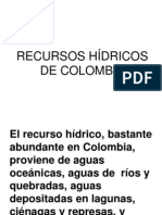 Recursos Hidricos de Colombia