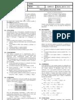 Lista de Exercícios de Eletroquímica