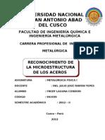 RECONOCIMIENTO DE LA  MICRO-ESTRUCTURA DE LOS ACEROS