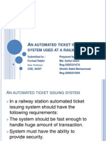 An automated ticket issuing system