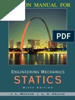 Engineering Mechanics Statics 6th Edition Meriam Kraige Solutions Manual