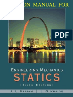 Engineering Mechanics Statics 6th Edition Meriam Kraige Solutions Manual