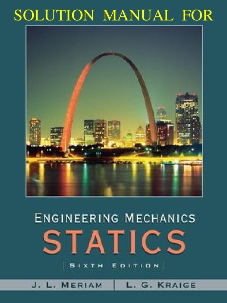 Engineering mechanics statics 6th edition meriam kraige solutions manual fandeluxe Gallery