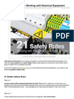 safety rule in electrical