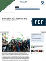 Article Liberté Bonhomme / action escargot