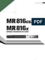 Steinberg MR816CRX Operator's Manual