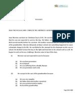 English PSA Sample Paper