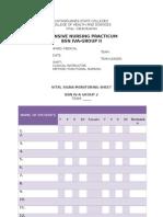 Vital Signs Monitoring Sheet