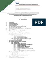elaboracion de terminos de referencia para proyecto de afinzamiento hidrico