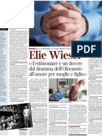 Intervista a Elie Wiesel, Scrittore Sopravvisuto Al Lager - Corriere Della Sera 18.01.2013