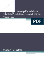 Kepentingan Konsep Falsafah dan Falsafah Pendidikan dalam Latihan