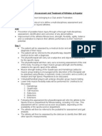 Protocol for the Assessment and Treatment of Athletes