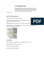 Philosophy of Lean Manufacturing