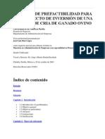 ESTUDIO  DE PREFACTIBILIDAD  PARA UN PROYECTO DE INVERSION  DE UNA GRANJA DE GANADO DE OVINO