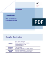 intro to compiler design