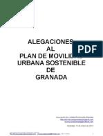 Alegaciones al Plan de Movilidad Urbana Sostenible de Granada