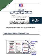 output, inputt dan interrup komputer