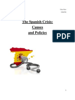 Spanish Crisis- causes and policies