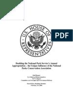 2.10.09 House Oversight Committee Minority Staff Report on NPCA