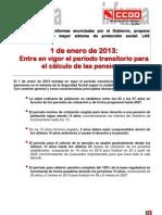 ENTRA EN VIGOR EL PERIODO TRANSITORIO PARA EL CÁLCULO DE LAS PENSIONES