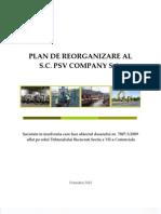 Plan Reorganizare SC PSV Company
