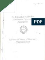 M.Pharm. Syllabus BAMu