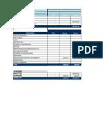Projet de budget d'association professionnelle