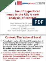 Value of Hyperlocal News