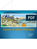 causes of water pollution