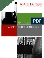 Bilan de la session plénière du mois de janvier 2013
